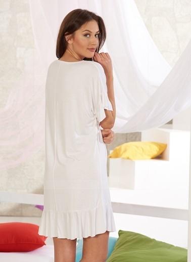 Sevim Kadın Baskılı Tunik Beyaz